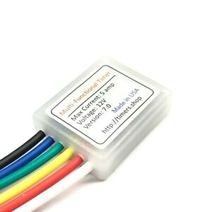12v 5a Delay Timer Switch Adjustable Relay Module 0 To 1000 Seconds