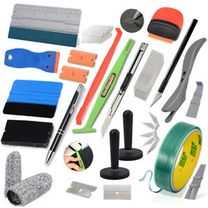 Pro Car Vinyl Wrap Squeegee Applicator Kit For Auto Window Tint Install Tools Us