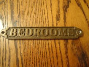 Bedrooms Brass Antique Sign From England
