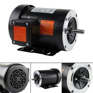 1 2 Hp Electric Motor 3 Phase 56c Frame 1800 Rpm Tefc 208 230 460 Volt New