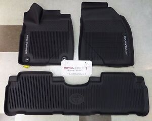 Toyota Highlander 2014 2019 All Weather Floor Liners Genuine Oem Oe
