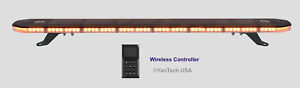 Wireless Controlled 48 Amber Led Emergency Strobe Light Bar 1 Thick Super Thin