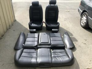 03 08 Jaguar S type R Seats Set Black Leather Str Supercharged Sport Oem S Type