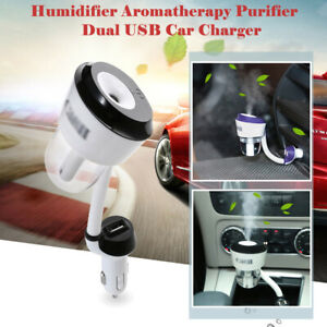 2 Usb Car Humidifier Air Purifier Freshener Aromatherapy Essential Oil Diffuser