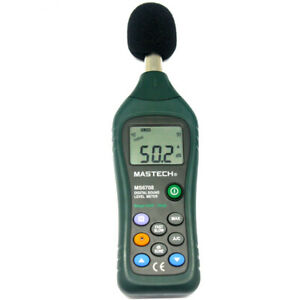 Mastech Ms6708 Digital Sound Level Meter Decibel Tester Meter Compact Back Usa