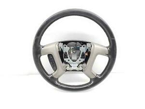Chevrolet Gmc Tahoe Yukon Silverado Sierra Black Leather Steering Wheel 15917922