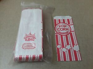 Carnival King 1 Oz Paper Popcorn Bags 100 Count
