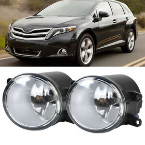 For 2009 2018 Toyota Venza Clear Replacement Fog Light Housing Assembly Pair
