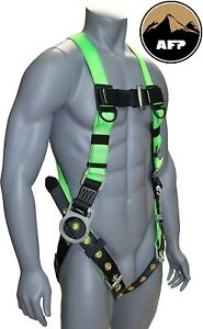 Afp Universal Full body Safety Harness With 3 D ring And Tongue Buckle Legs New