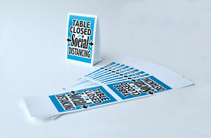 Table Closed For Social Distance Table Tent Restaurant Table Closed Tent Card