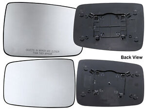 For Dodge Ram 2010 2019 Manual Mirror Glass Backing Plate Driver Passenger Pair