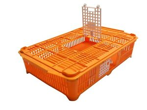 New Gqf 0299 Baby Chick Grown Quail Heavy Duty Orange Plastic Transport Coop