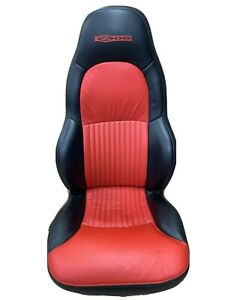 97 04 Corvette Z06 C5 Passenger Front Right Seat Mod Red Black Leather Oem