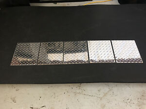 Diamond Plate Aluminum 100 Thick And 12 X 10 5 Inches 5 pack