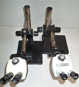 Bausch And Lomb Stereo Zoom 4 Microscopes With Eyepieces Boom Stand Led Lights
