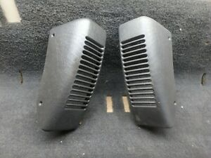Jeep Tj Wrangler 97 06 Black Agate Speaker Dash Bezel Vent Pair Grill Cover