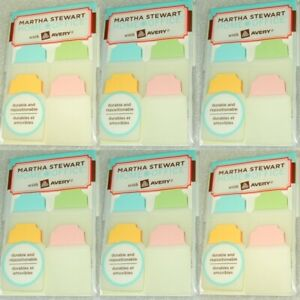 6 Lot Martha Stewart Office Notetabs Note Tabs Pastel Avery 6 Packs 240 Notes