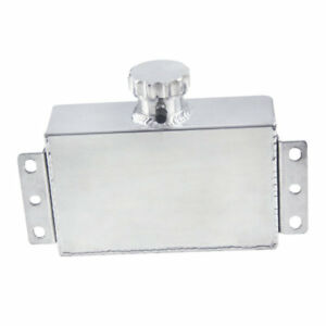 1000ml Aluminum Radiator Coolant Overflow Bottle Expansion Reservoir Tank Silver