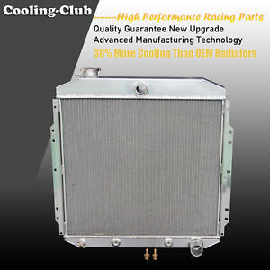 Fit 53 56 Ford F Series Truck With Chevy V8 Engine 3 Row Aluminum Radiator
