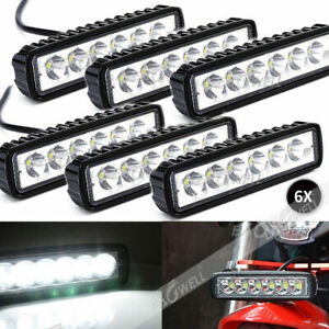 6x 18w 6 Led Spot Light Work Bar Lamp Driving Fog For Offroad Suv 4wd Car Truck