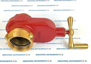 Elkhart Model X 86 Fire Protection Gate Valve 2 1 2 Brass Male Out New