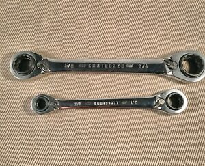 Craftsman 12 Point Sae Reversible Ratchet Wrench 8 Sizes In Two Piece Set