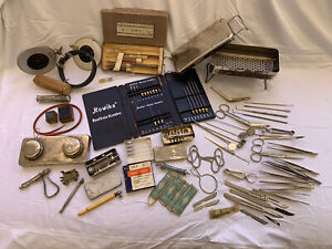 100 Collection Antique German Medical Equipment Instrument Supplies Lot