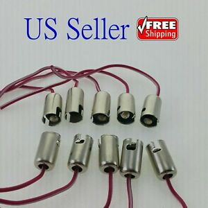 10x Ba9s T11 Led Light Bulb Socket Holder With Wire Connector For Car Truck
