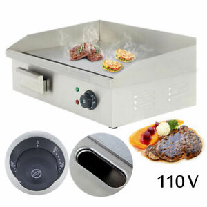 Electric Countertop Grill Griddle Flat Bbq Barbecue Plate Fried Steak Fry Meat