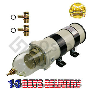New 1000fg Diesel Filter Water Separator 30 Micron Element Marine Boat 1000fh