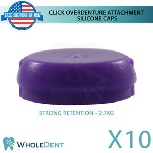 10x Strong Silicone Cap Click Overdenture Attachment Abutment Dental Implant