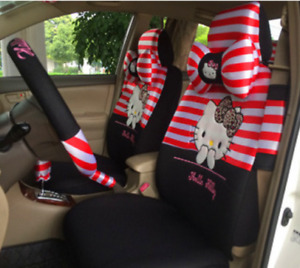 2020 New Cute Hello Kitty Car Seat Cover Car Seat 10pc