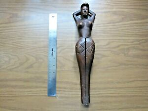 Vintage Wooden Naked Lady Nutcracker Carved Nude Woman Naughty Nellie Risque