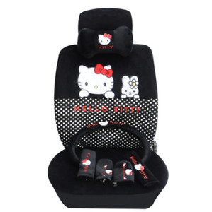 2020 New Cute Hello Kitty Car Seat Cover Car Seat 2pc Neck Pillow