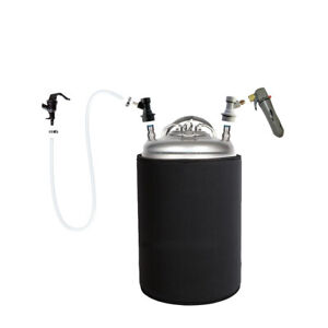 2 5 Gallon Ball Lock Keg And Co2 Charger Portable Party Kit Homebrew Beer Coffee
