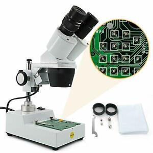 Swift Stereo Microscope 20x 40x Multi use Inspection Wf Led Adjustable Diopter