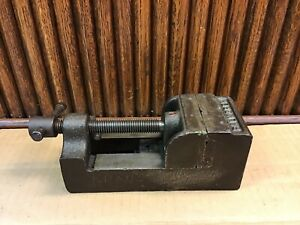 Vintage Palmgren No 30 Drill Press Vise 2 5 V Grooved Jaw chicago Tool Co usa
