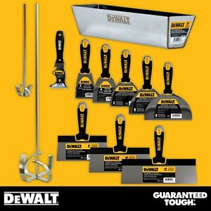 Dewalt Hand Tool Set Stainless Steel Taping Putty Knives Mixers Mud Pan
