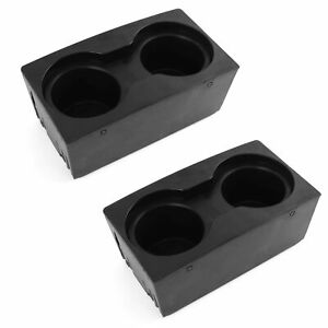 2 Fits Ford Superduty F250 2011 2016 Center Floor Console Cup Holder Inserts