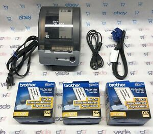 Brother P touch Ql 500 Thermal Label Printer 3 New Rolls Of Labels Euc Tested