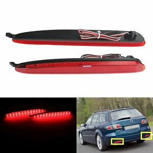 For Mazda 6 Atenza Sport Wagon Rear Bumper Reflector Led Tail Stop Brake Light