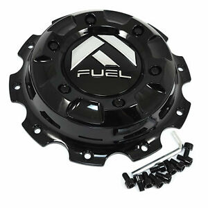 Fuel Gloss Black Wheel Center Hub Cap Front Dually 8 5 8 Od For 10x225