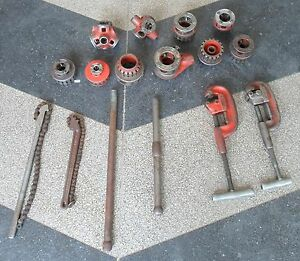 Ridgid Pipe Threader Cutter Set no Shipping Pickup Only
