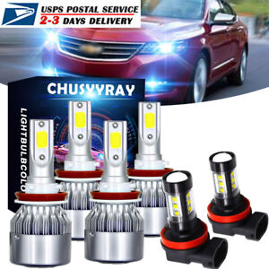 For Chevrolet Impala 2006 2013 Combo H9 H11 8000k Led Headlight Fog Light Bulb