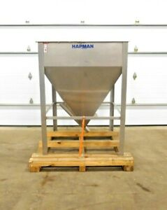 Mo 3665 Hapman 300 Series Stainless Steel Hopper 48 X 48 X 51 D