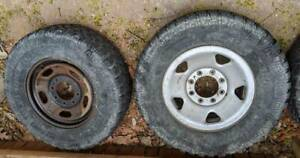 4x Ford F250 F350 Oem 17 Wheels And Tires 2012 Steel Rims Off Road