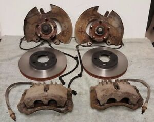 Sn95 Front Disc Brake Conversion Kit Mustang Gt 5 Lug Spindles Pbr Calipers Fox
