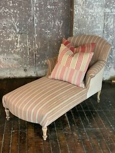 C 1900 Antique French Chaise Lounge Chair