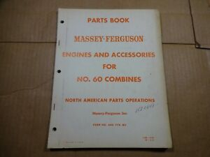 Massey Ferguson No 60 Combine Engines And Accessories Parts Book Manual 6 59