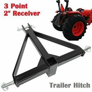 2 Receiver 3 Point Trailer Hitch Category 1 Tractor Tow Drawbar Adapter New